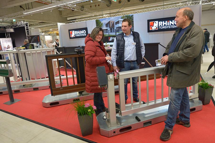 Rhino elektrische Schiebetore Drehtore Messestand Katharinenmarkt Delbrück 2018