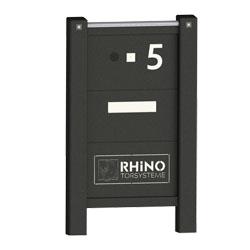 Rhino Hoftore Torerweiterung Briefkasten mit Logo Namensschild Hausnummer