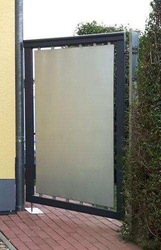 Nebeneingang Seiteneingang Nebentür Aluminium